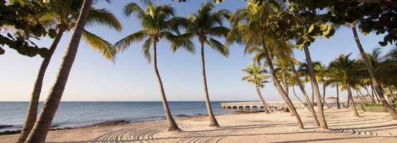 Key West natural sand beach